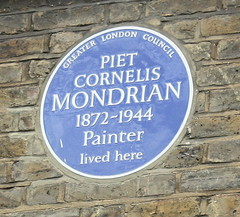 Photo of Piet Cornelis Mondrian blue plaque