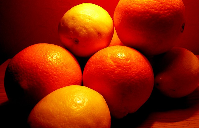 oranges color perception