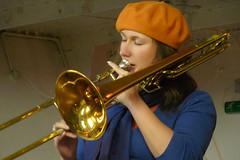sousaphone(0.0), tuba(0.0), trumpet(0.0), western concert flute(0.0), horn(0.0), euphonium(0.0), trombone(1.0), trumpeter(1.0), types of trombone(1.0), brass instrument(1.0), wind instrument(1.0),