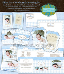 Blue Lace Newborn and Baby Business & Marketing Collection