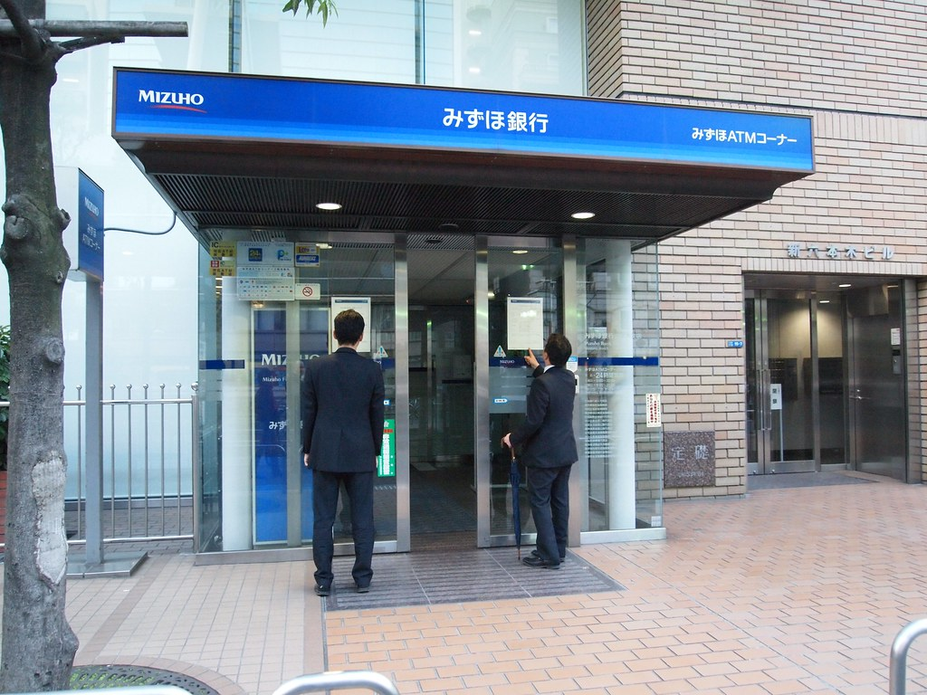 Mizuho Bank closed their ATMs