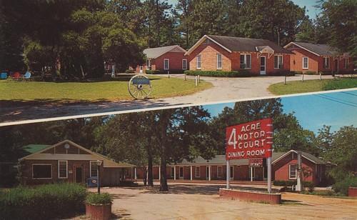 vintage georgia postcard motel bainbridge popmachine wagonwheel cabins dualview fouracre