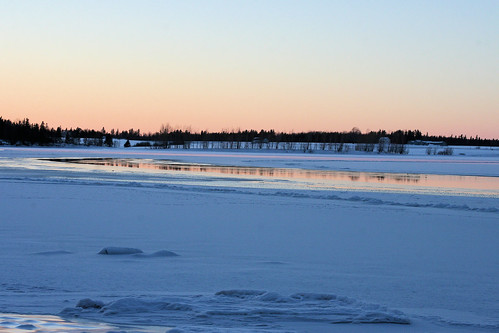 winter sunset snow ice pei