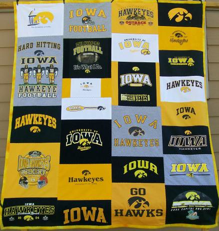Iowa Hawkeye Shirt Quilt