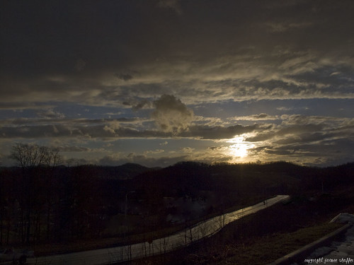 road blue sunset sky clouds westvirginia