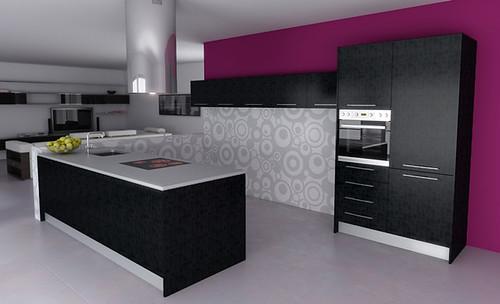Llena tu hogar de color con los muebles de cocina en for Combinacion de colores para muebles de cocina