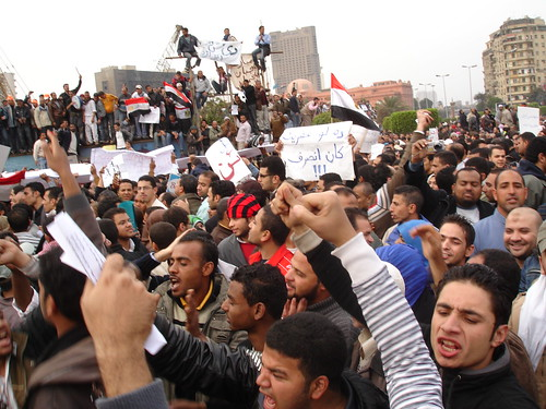 Protesters at Al Tahrir square