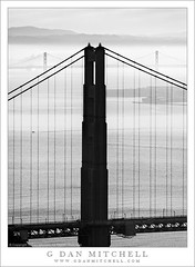 North Tower of the Golden Gate Bridge, San Francisco Oakland Bay Bridge