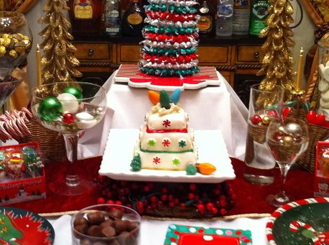 christmas dessert table christmas cake decor dessert ideas and much ...