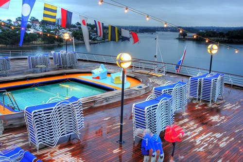 Volendam's aft pool as seen in Sydney Harbor February 13, 2011 | by Bruce Tuten