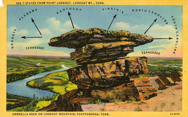 Umbrella Rock Lookout Mountain Chattanooga TN