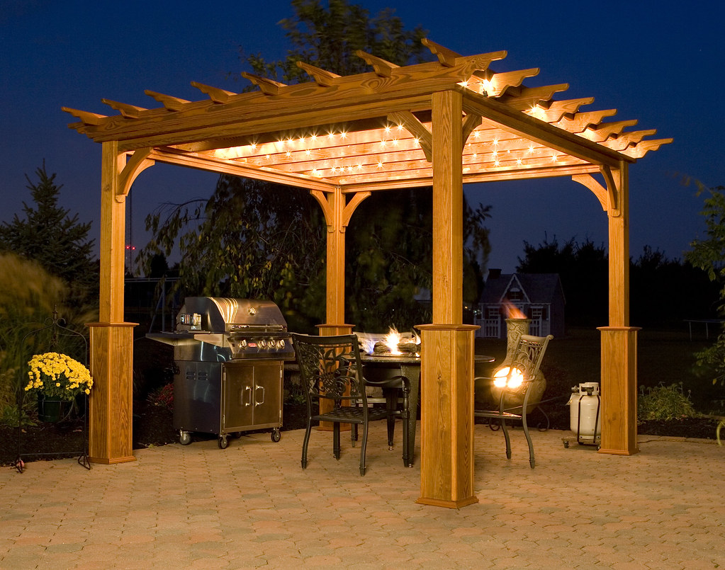 Pergola on Patio at Night : pergola on patio - thejasonspencertrust.org
