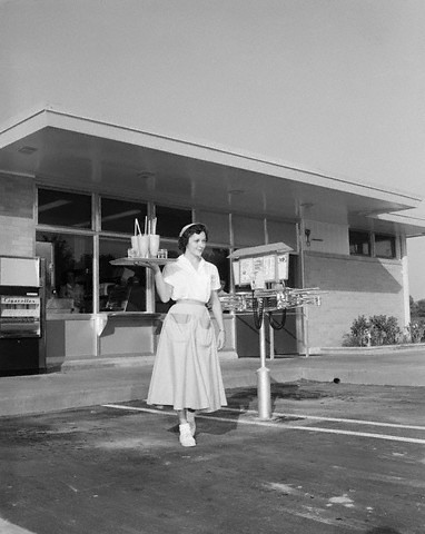 1950s Carhop Waitress Flickr Photo Sharing