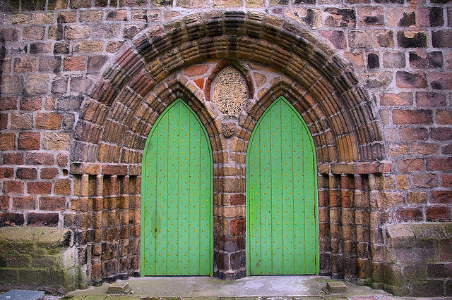 Green Doors St Machar Cathedral - Flickr CC Gordon Robertson
