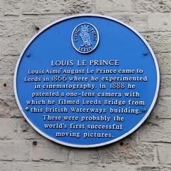 Photo of Louis Le Prince blue plaque
