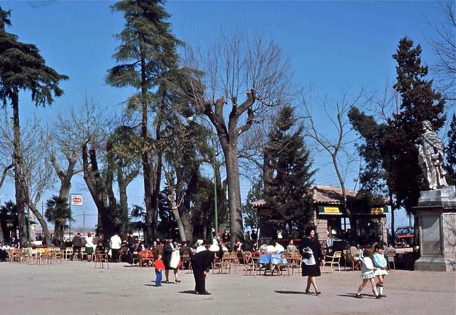 Parque de la Vega (Paseo de Merchán) en Toledo hacia 1967. Fotografía de John Fyfe