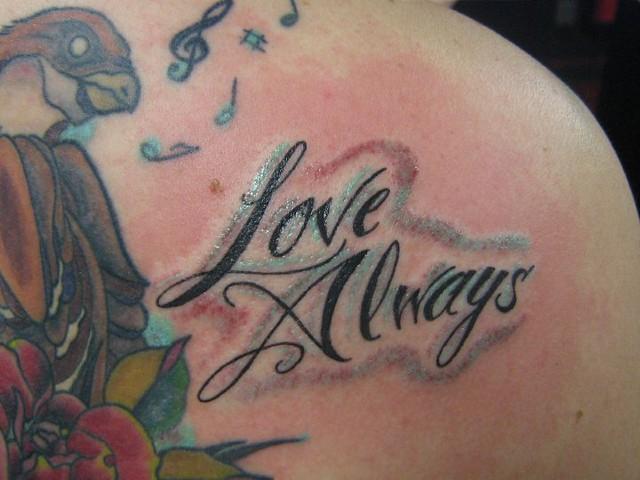 love always lettering tattoo flickr photo sharing. Black Bedroom Furniture Sets. Home Design Ideas