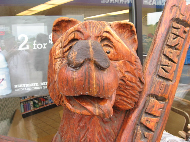 Chain saw carved bear detroit lakes minnesota