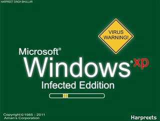 windows xp infected virus eddition