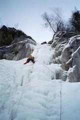 Greg climbing the Cascade du Dard Image