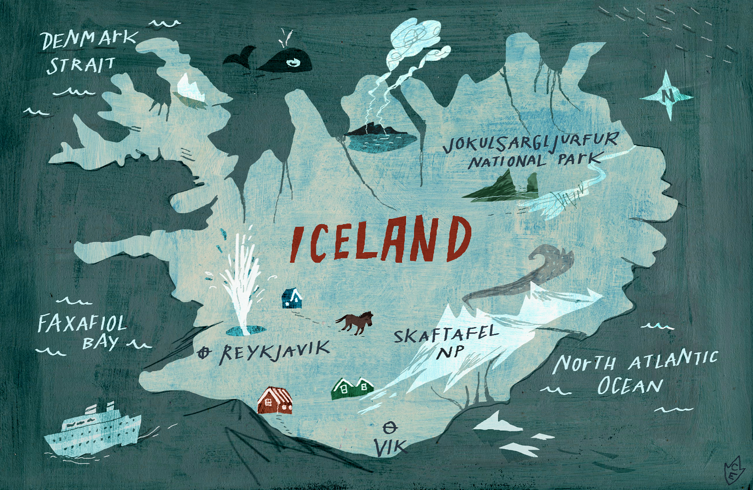 Online Maps Iceland Map for Childrens