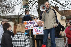 Save Leiston Library protest, 05/02/2011