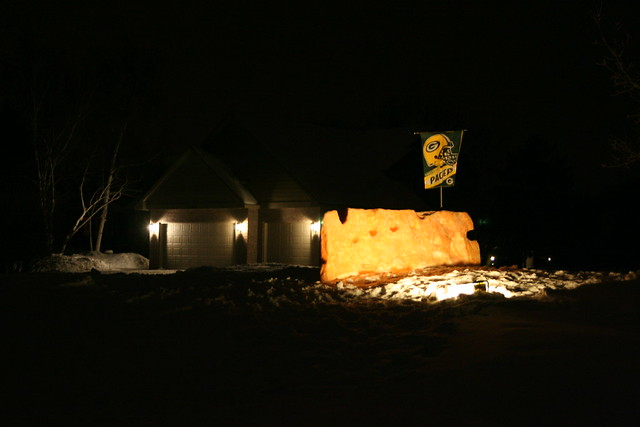 Nice Work Pauly...  The night before the Super Bowl 2011
