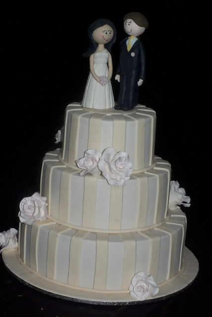 Just completed my first wedding cake A 3 tier 6 9 12 inch Top tier dummy
