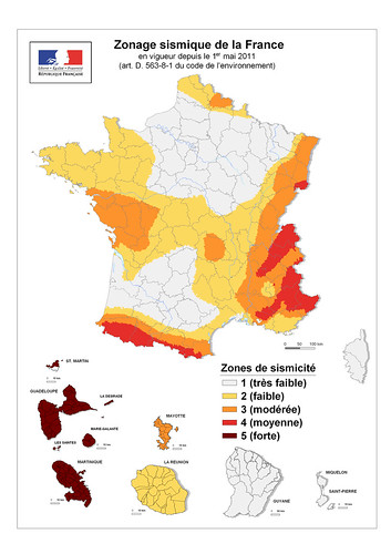 Carte nationale du zonage sismique