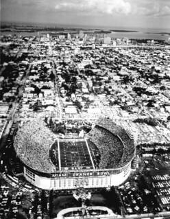 Aerial View of Miami's Orange Bowl: Miami, Florida