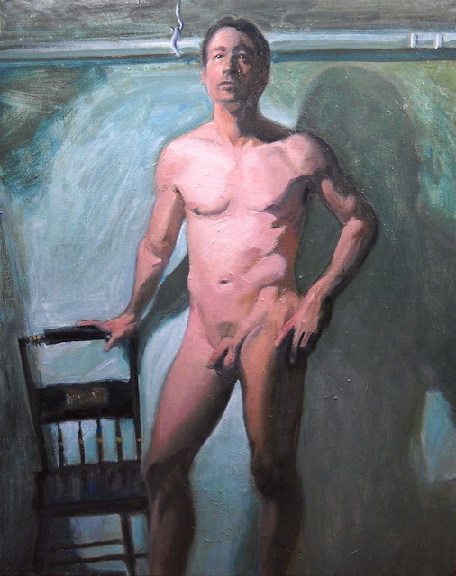 Standing Male Nude Oil Sketch. (20