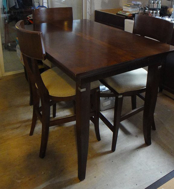 Kitchen Table High: High Top Kitchen Table- $200
