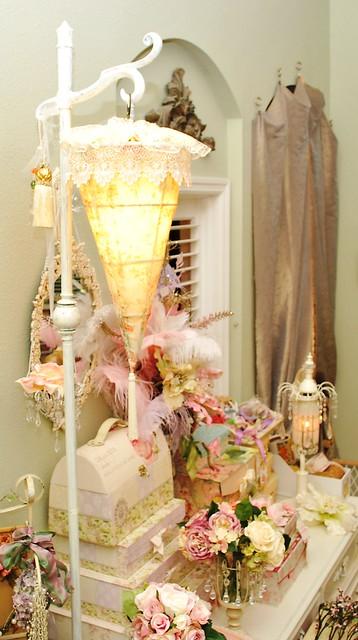 Romantic shabby chic lamp  Flickr  Photo Sharing!
