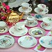 Pretty Vintage China Tea Set with Gold Sadler Teapot