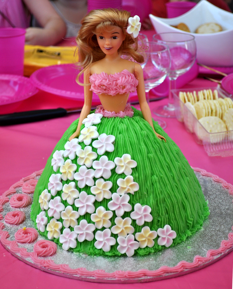 Hula Girl Birthday Cake