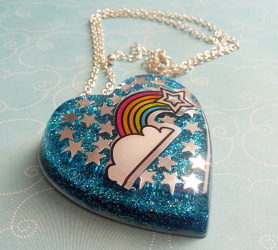 Free Fun Things to Do With Family - Over the Rainbow Resin Necklace