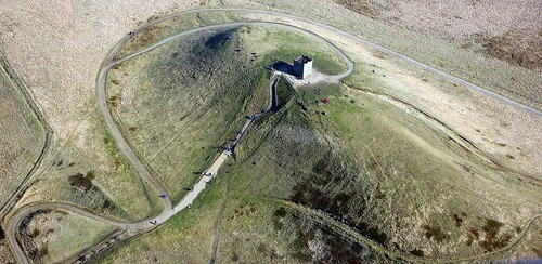 Rivington Pike, from the air