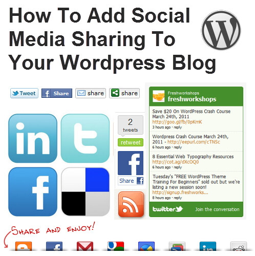 How To Add Social Media Sharing To Your WordPress Blog