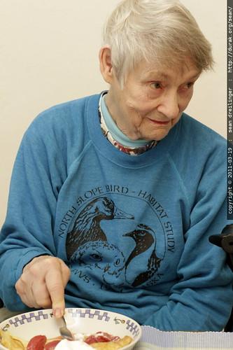 farewell breakfast with grandma joan