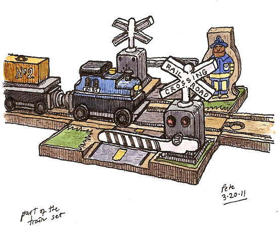 toy railroad crossing | Flickr - Photo Sharing!