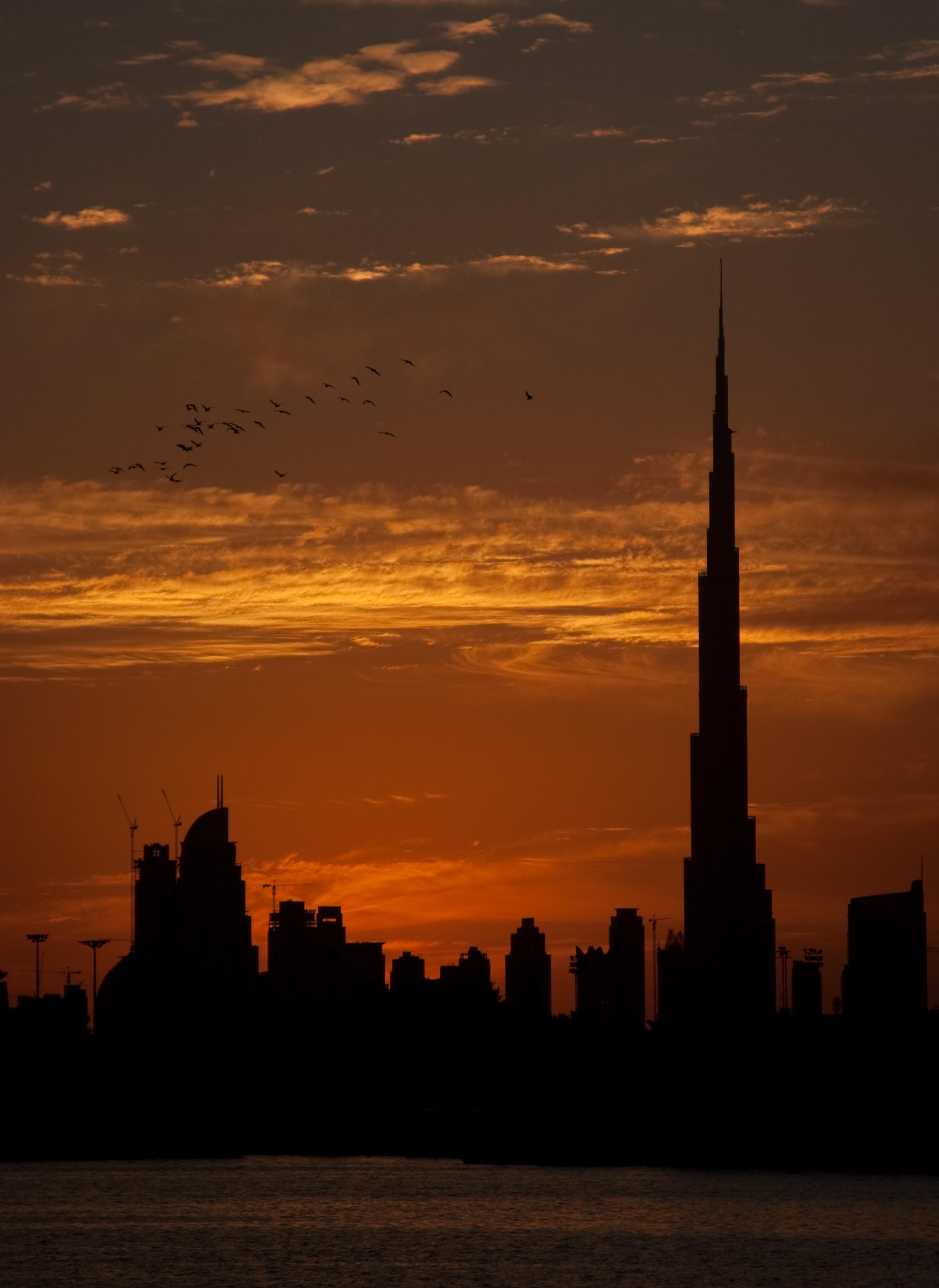 Burj Khalifa Silhouette