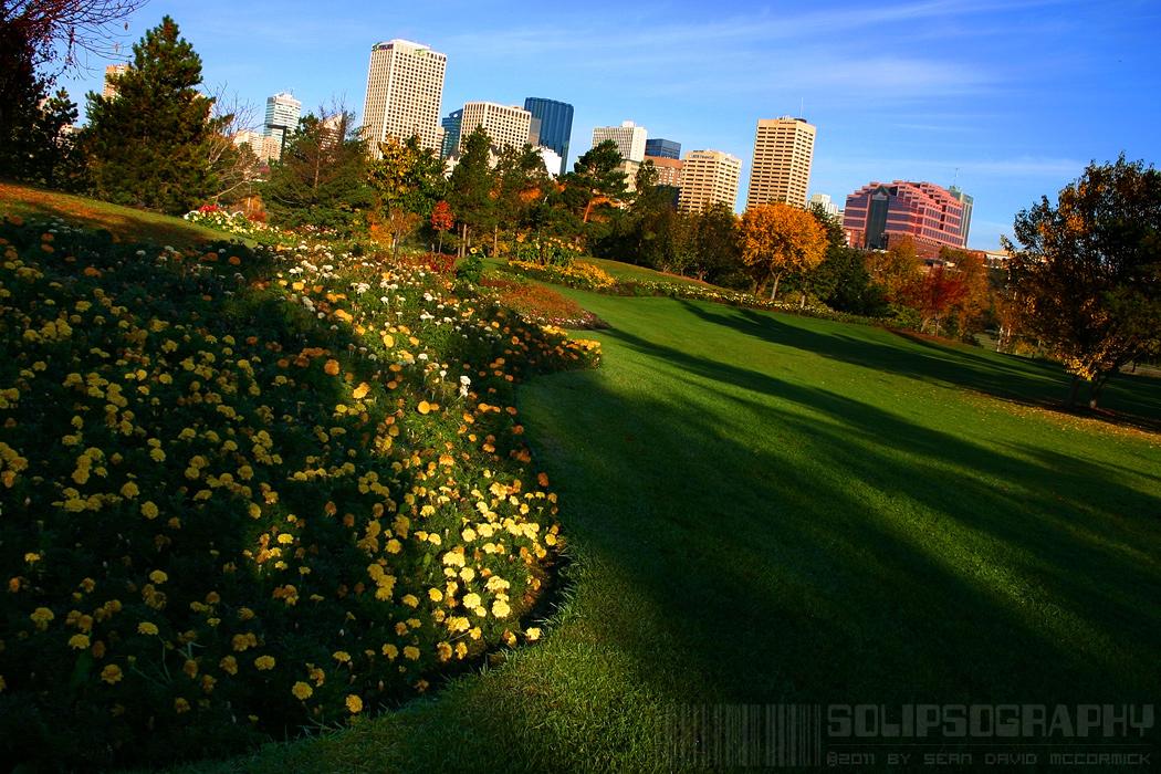 Downtown Edmonton Viewed from Muttart Grounds [1 of 2]
