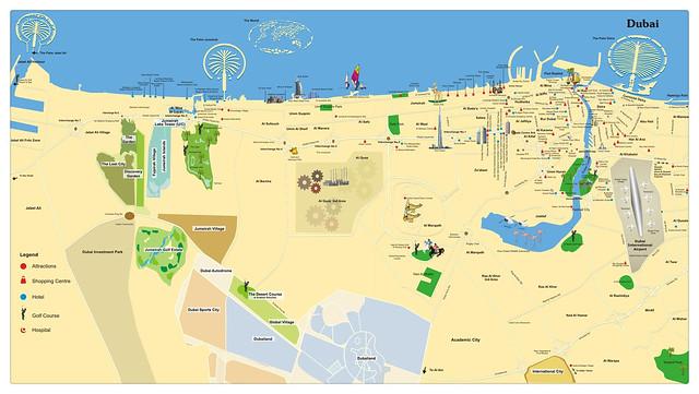 杜拜 觀光地圖3