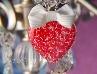 Handmade Valentine's Day Heart Necklace