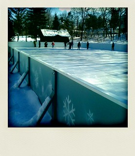 So pretty. Skating at Rideau Hall.