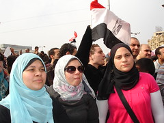 Egyptian girls against Mubarak
