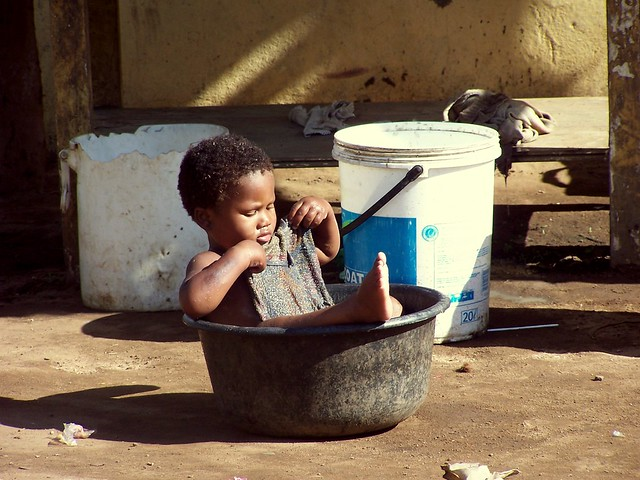 Village Child Cooling off