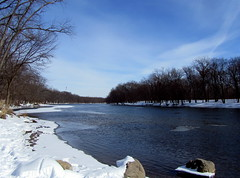 Grand River in winter