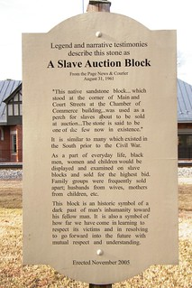 Slave Auction Block, Luray Virginia