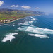 Surf at Waialua - aerial view